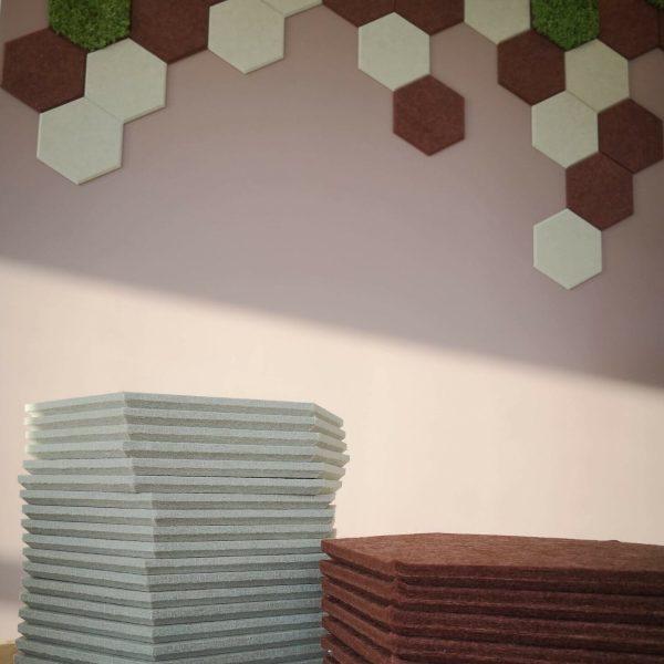 Akustikk fliser i Hexagon mønster
