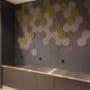 Hexagon fliser i mose og tekstil