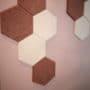 Hexagon fliser i tekstil