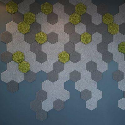 Hexagon fliser på kontor