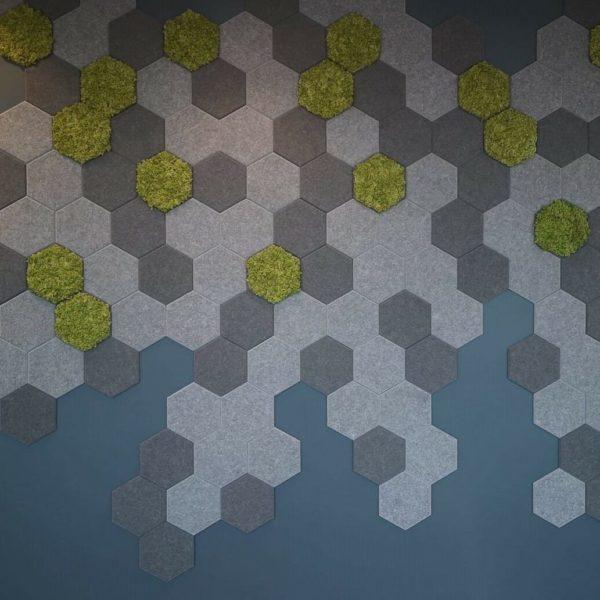 Lekre Hexagon fliser på kontor