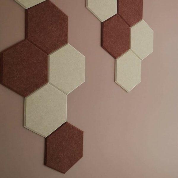 Kontor vegg med hexagon fliser