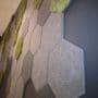 Lekre hexagon fliser i mose og tekstil