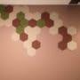 dekorative hexagon fliser i tekstil på kontor