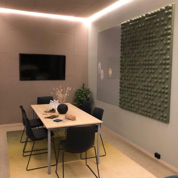 Interiør vegger med lyddempende egenskaper